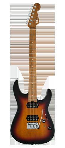 GUITARRA CHARVEL PRO-MOD DINKY DK24 HH 2PT CM 296-9411-598 3-TONE SUNBURST
